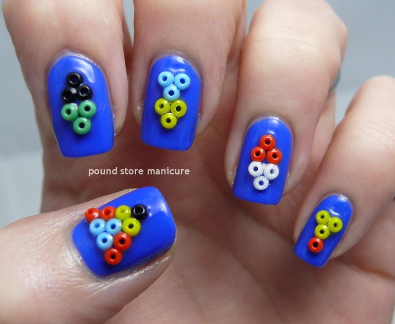 Tribal Beads nail art by Pound Store Manicure