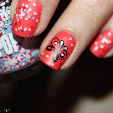 Butterfly nail art by Amethyst