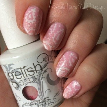 Pastel Paisley nail art by Courtney Haines