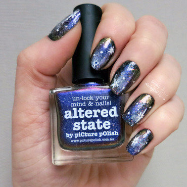 Galaxy nails nail art by simplynailogical