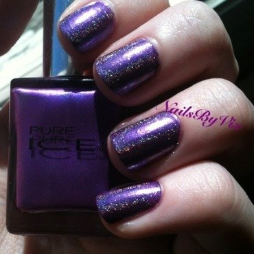 Pure Ice No Means No and Indigo Bananas SF 35 Top Coat Swatch by Victoria Lynn