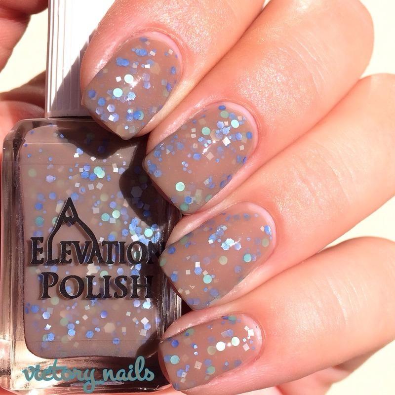 Elevation Polish Naked Night Sky Swatch by Nicole
