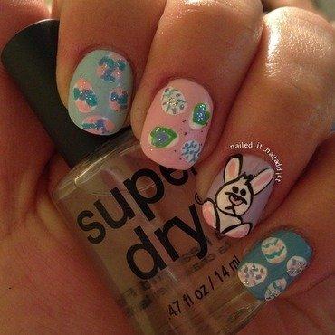 Bunny nails nail art by Sheree Dean