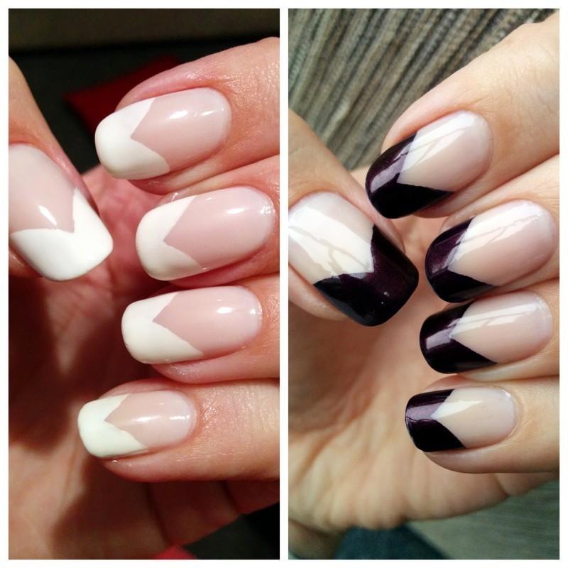 French Twist nail art by Harriet Lockett