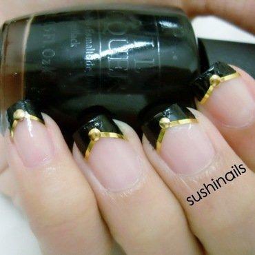 Chevron French Tips nail art by sushinails