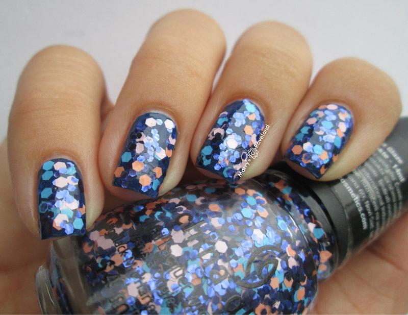 China Glaze First Mate and China Glaze Glitter up Swatch by Marina