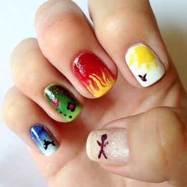 The four elements nail art by Anna Malinina