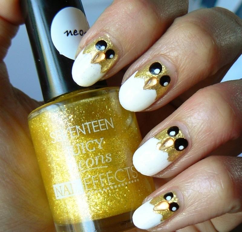 Easter Cheeky Chicks! nail art by Aysha Baig