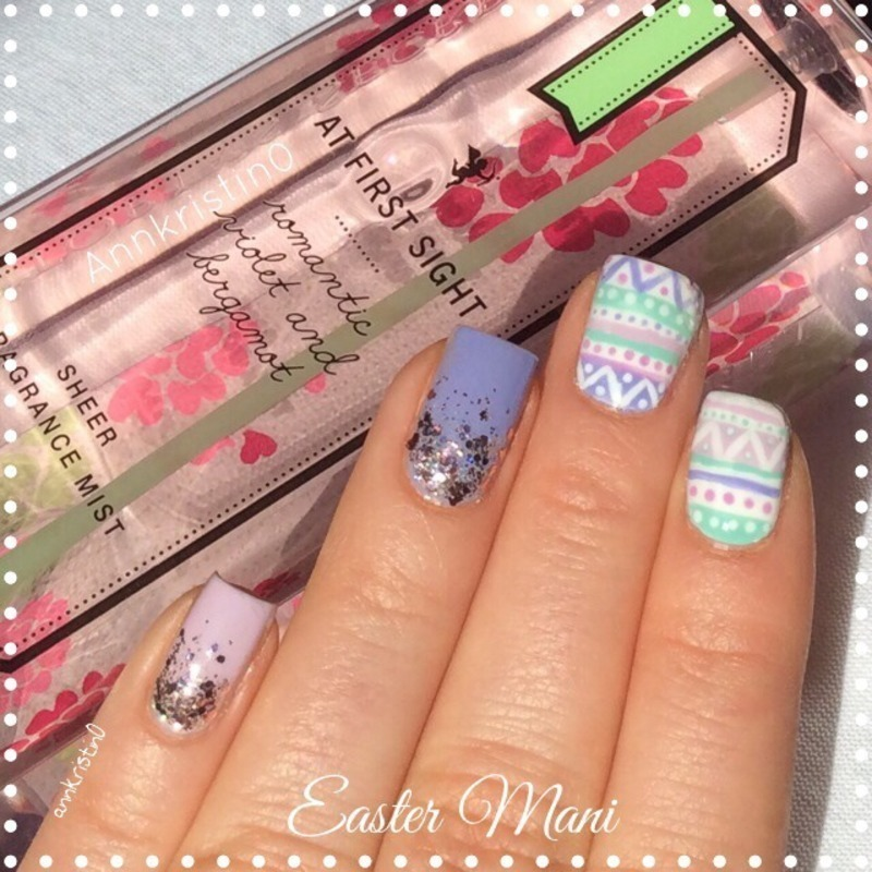 Easter Mix and Match '14 nail art by Ann-Kristin