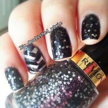 Ritzy Fishtail Mani nail art by Jayshree