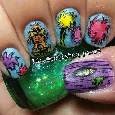 The Lorax nail art by Jayshree