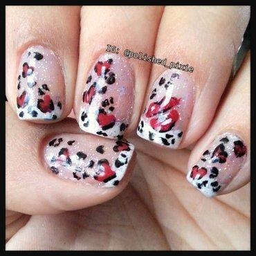 Love Print and Kisses nail art by Jayshree