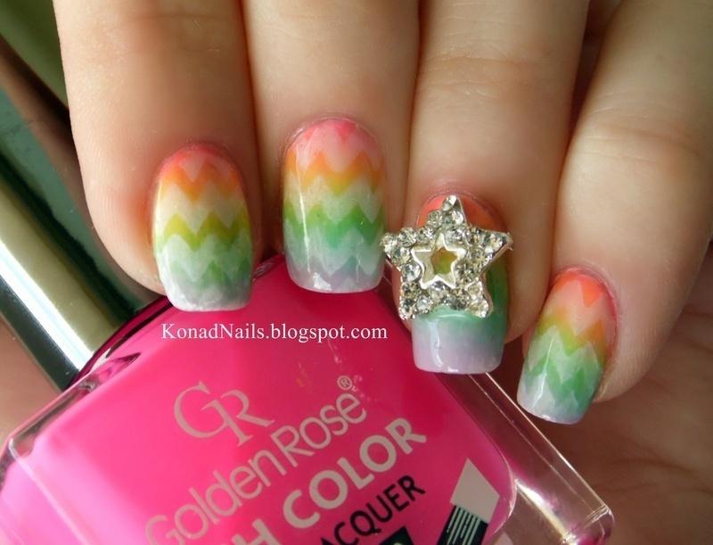 Easter rainbow eggs  nail art by KonadAddict