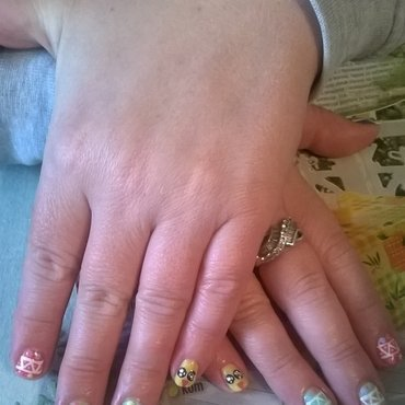 Easter nails nail art by Mila
