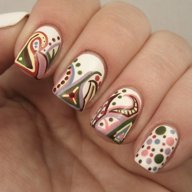 Paisley Inspired nail art by Jennifer Collins