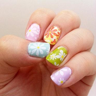 Easter Nails nail art by Mel