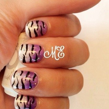 Tiger Tiger! nail art by Miriam