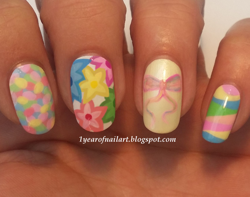 Happy Easter nail art by Margriet Sijperda