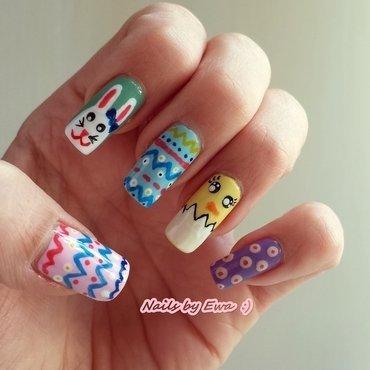 Easter Nails nail art by Ewa