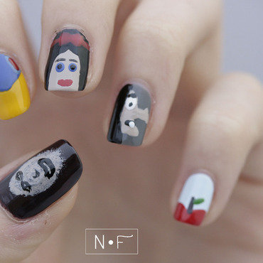 Snow White nail art by NerdyFleurty