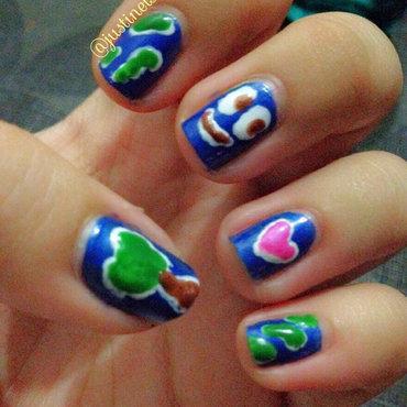 Happy Earth nail art by ℐustine