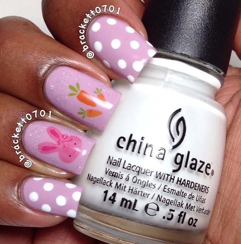 Easy Easter Nails nail art by Nicole Brackett