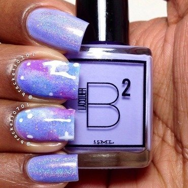Galaxy Nails nail art by Nicole Brackett