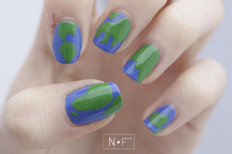 Earth nail art by NerdyFleurty