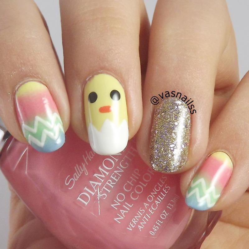 Easter nail art by  Vanesa