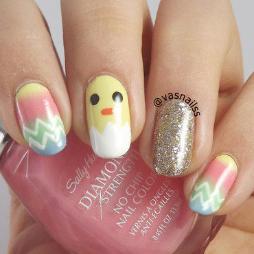 Easter nail art by  Vanesa