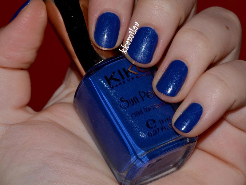 Kiko Blue Spot Swatch by Kamila