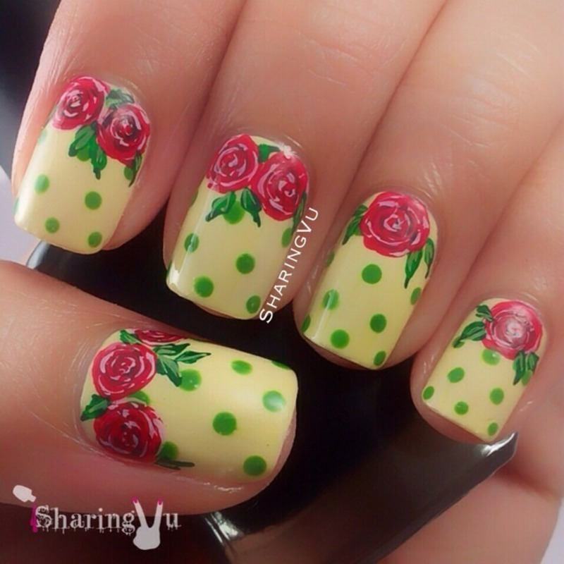 🌹🌹🌹 Roses 🌹🌹🌹 nail art by SharingVu