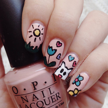 Summer Sun Shine nail art by Mayang Anindita