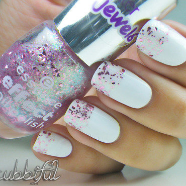 Glammed Up French Tip nail art by Cubbiful