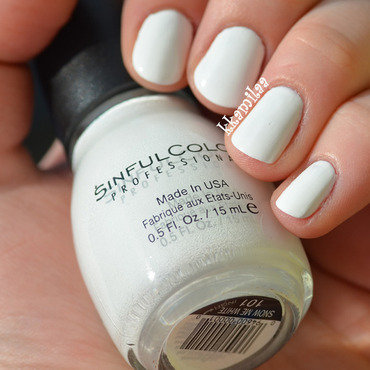 Sinful Colors Snow me white Swatch by Kamila