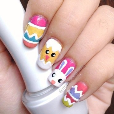 Easter Nailart nail art by Mayang Anindita