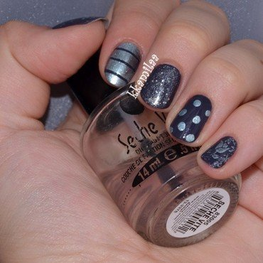 Mixed Manicure nail art by Kamila