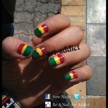 Nail Art : Drapeau nail art by SowNails