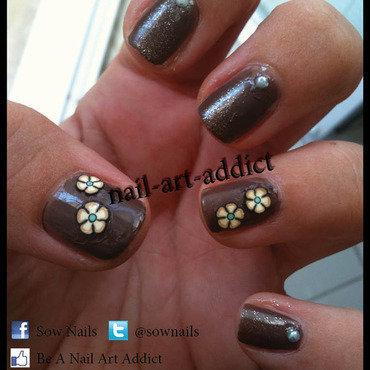 Nail Art : Fleurs nail art by SowNails