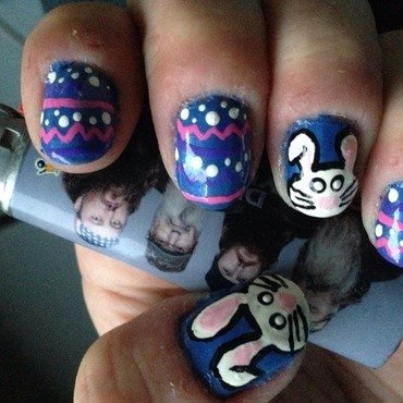 Hoppy Easter nail art by Megan Lagerson