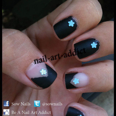 Nail Art : Top Coat Mat nail art by SowNails
