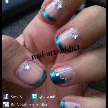 Nail Art : French Manucure nail art by SowNails