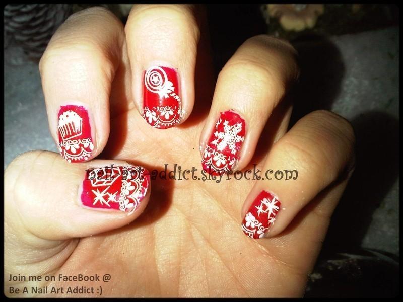 Nail Art : Noël nail art by SowNails