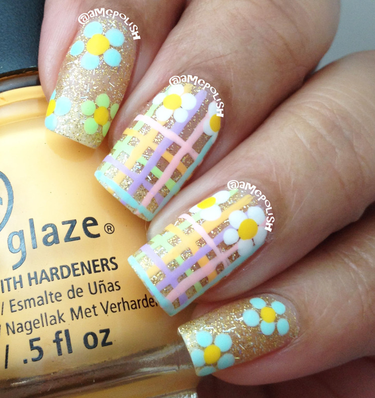 Easter/Spring Mani nail art by Amber Connor