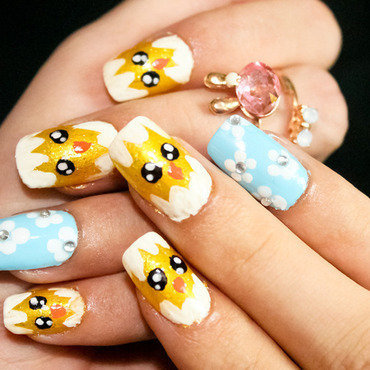 Happy easter nail art by Diana Livesay