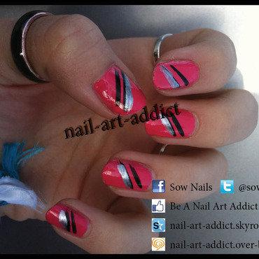 Vernis rose   stries   pink nail polish   streak   smalto rosa e scanalature thumb370f