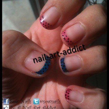 French bleue   rose   pois   pink   blue french manicure   dots   french manicure rosa   blu   puntini thumb370f
