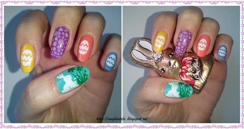 Happy Easter nail art by Oana  Alexandru