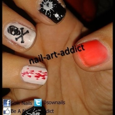 Nail Art : Halloween nail art by SowNails
