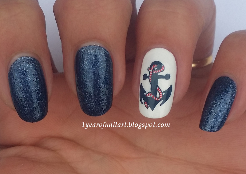 Anchor nail art by margriet sijperda nailpolis museum of nail art anchor nail art by margriet sijperda prinsesfo Gallery